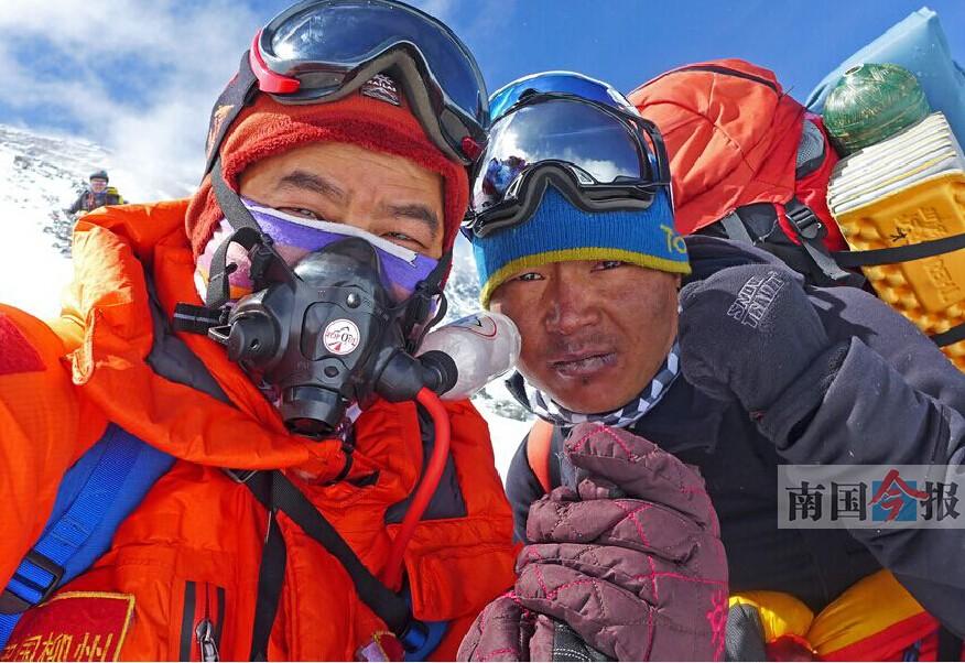 17日焦点:珠峰勇士刘政:无向导帮助 差点就下不来