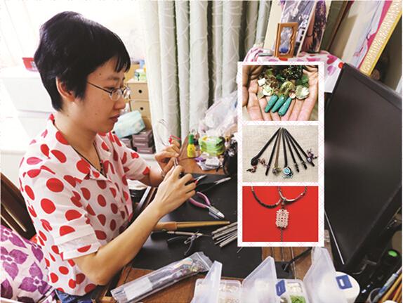 高清:手工当事业做 80后妹子小饰品里的诗情画意