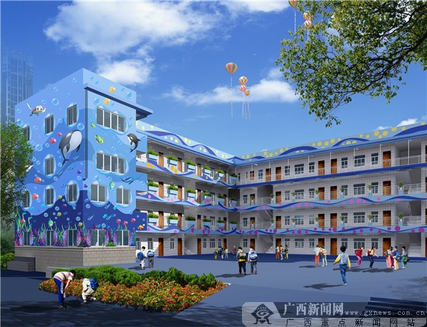 长堽小学:南国风情特色校园