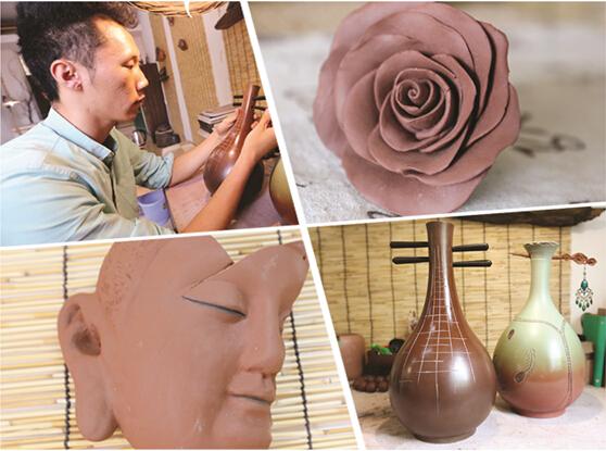 男子制作陶艺作品 觉得不够好高价也舍不得卖(图)