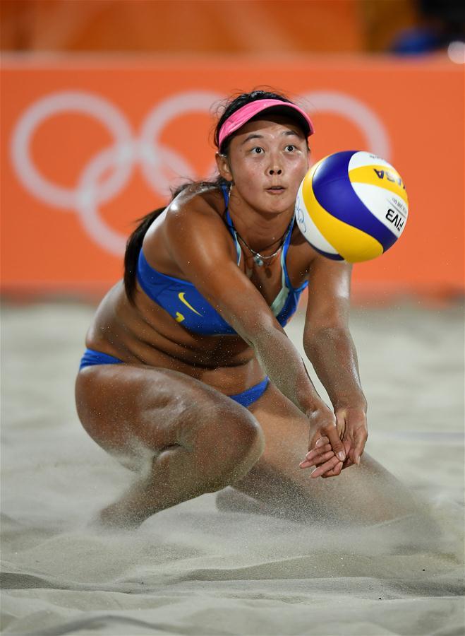 沙滩排球王凡 岳园力克瑞士组合夺得首胜 组图