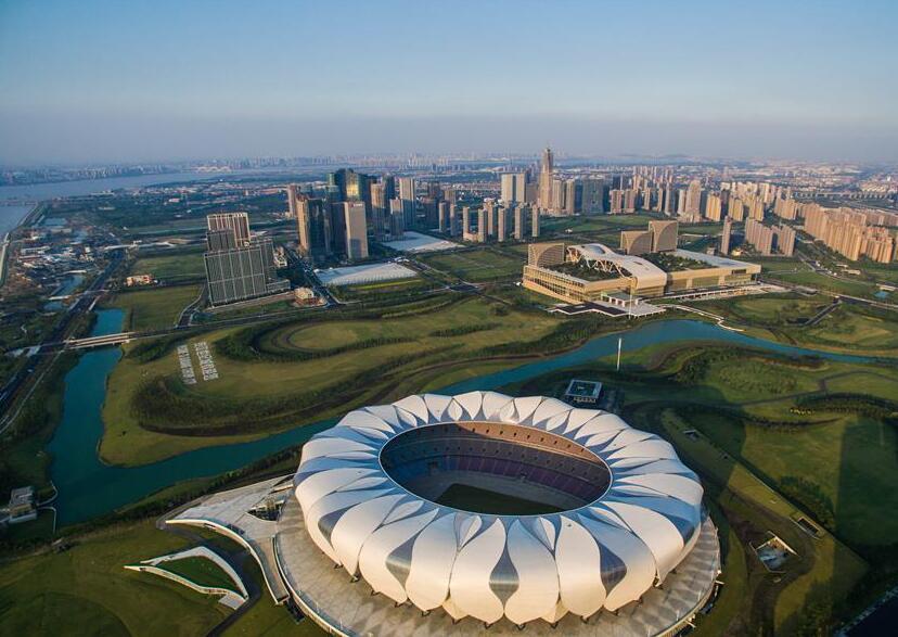 鸟瞰杭州(组图)