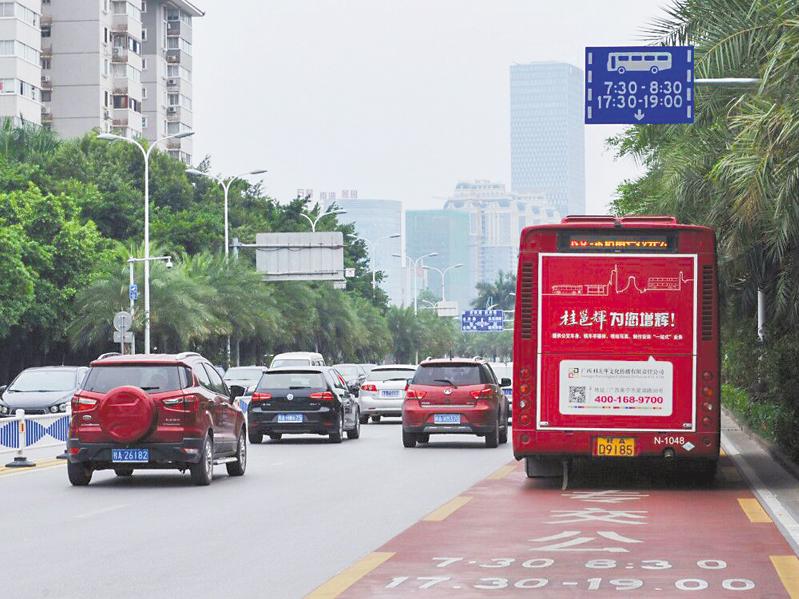 南宁滨湖路、双拥路公交专用道恢复