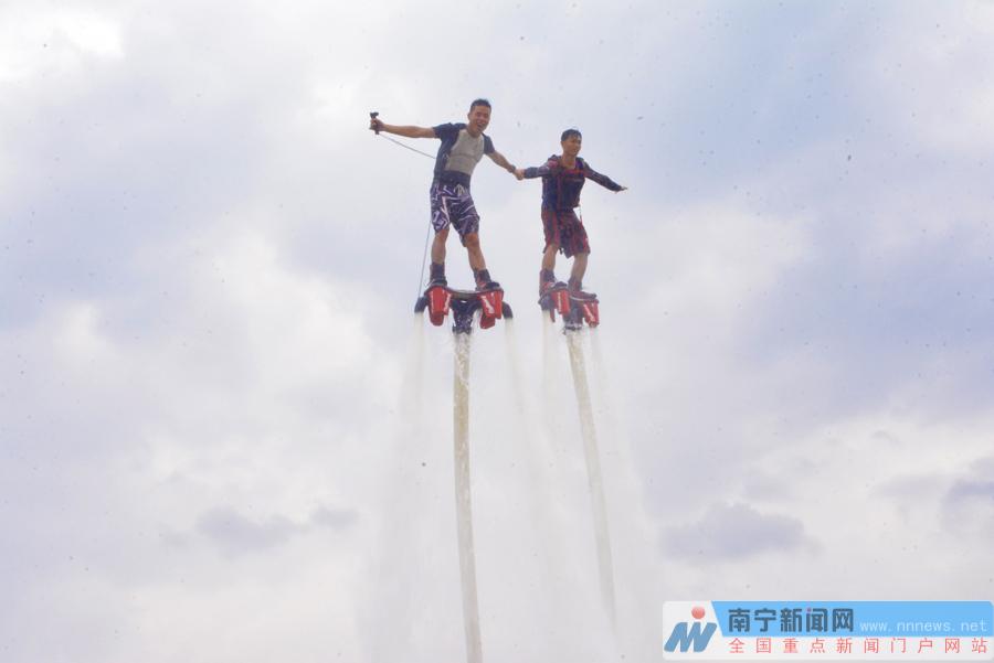 上林生态旅游养生节今日开幕 水上表演充满刺激