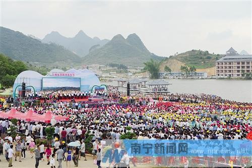 """上林生态旅游养生节开幕 """"壮族老家""""引客来"""