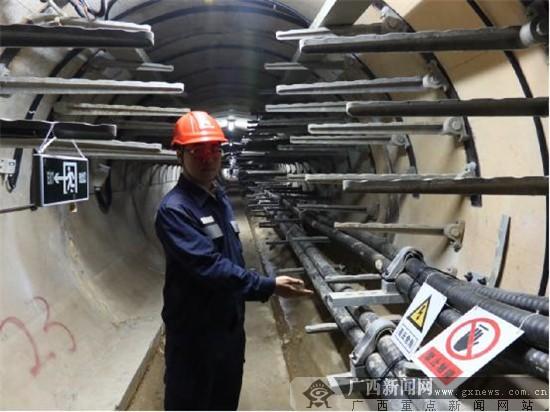 广西首条110千伏架空线路迁入综合管廊