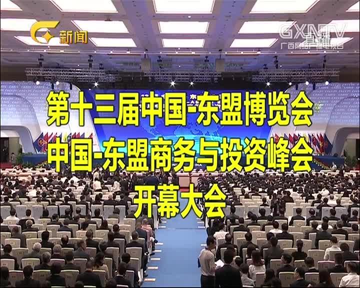 第13届中国-东盟博览会 中国-东盟商务与投资峰会开幕大会