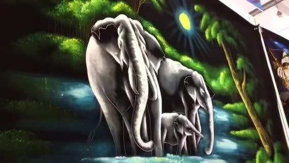 手绘的斯里兰卡布画 可搓洗不褪色