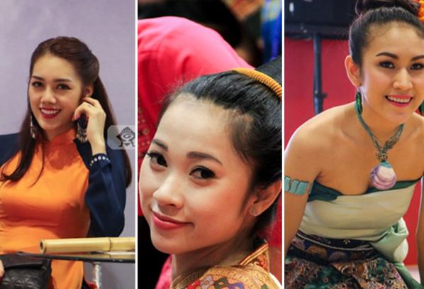 高清:东博会上穿着民族服饰的美女最吸睛