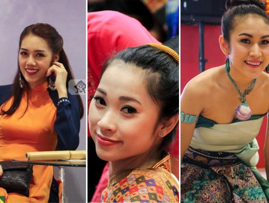 """高清:东博会""""魅力""""大 穿着民族服饰的美女最吸睛"""