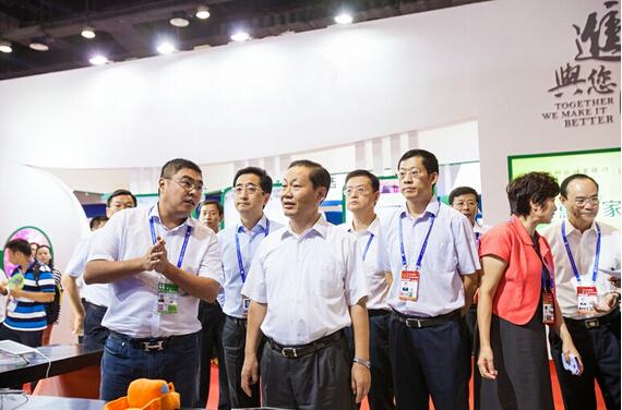 广西自治区党委书记彭清华参观东盟博览会 欢迎运满满来广西