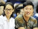 刘翔夫妇与姚明巴特尔观战NBA中国赛上海站