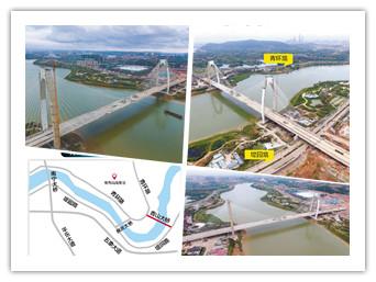 10月26日焦点图:南宁市青山大桥合龙 预计明年5月通车