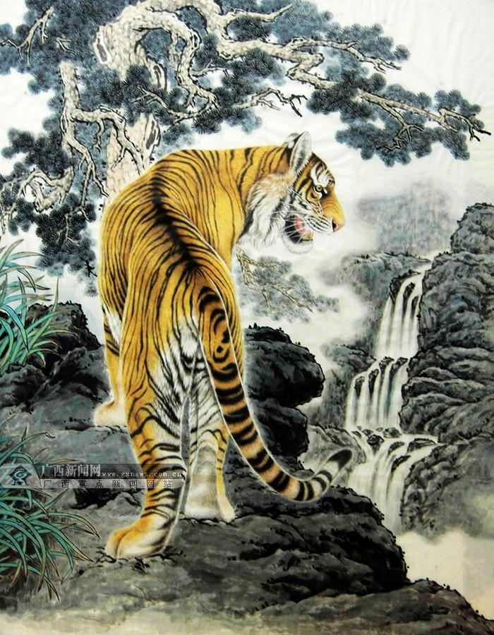 壁纸 动物 国画 虎 老虎 桌面 700_900 竖版 竖屏 手机
