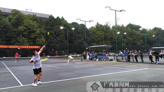广西体育系统网球赛闭幕 来宾组合登顶男双冠军