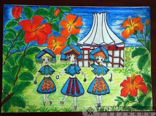 南宁青少年书法绘画赛:广西体校获儿童组一等奖