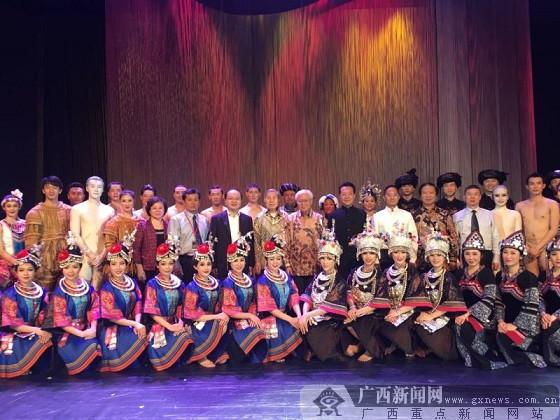 舞蹈诗《侗》闪耀狮城 宾客盛赞柳州市侗寨风情