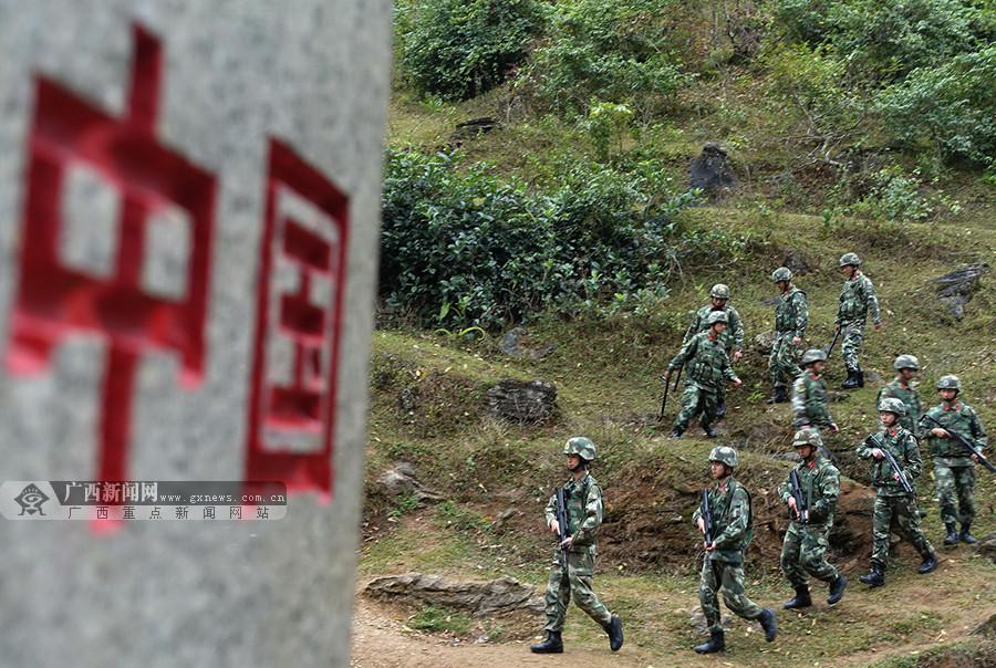 高清:广西公安边防总队打响边境缉私大会战