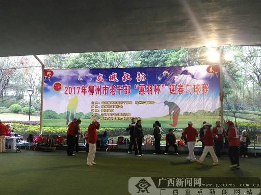 2017年柳州市老干部迎春门球赛开赛