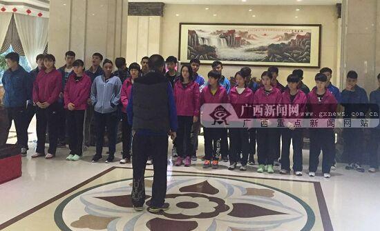 备战2017全运会 广西乒乓球队赴河池大化县外训