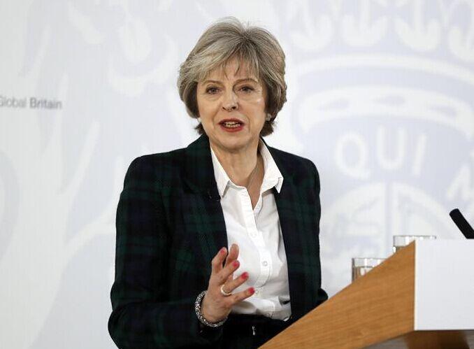 """英首相特雷莎・梅:英国将寻求""""硬脱欧"""""""