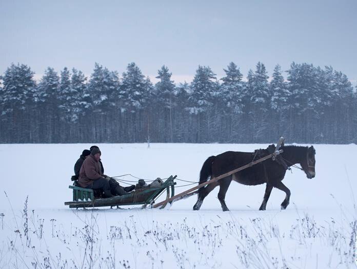 白俄罗斯村庄雪景