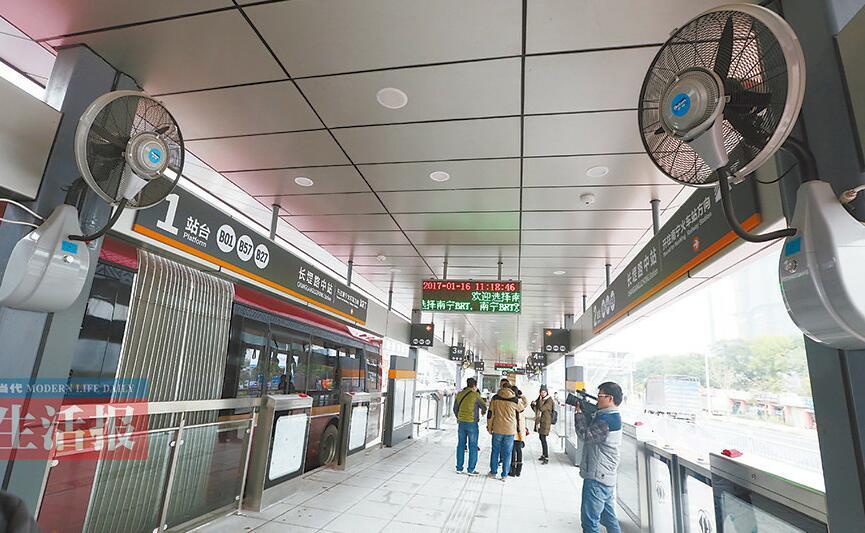 南宁首条BRT1月25日试运营