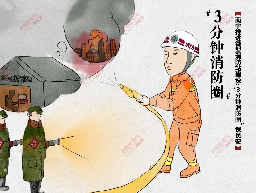 """南宁推进微型消防站建设:""""3分钟消防圈""""保民安"""