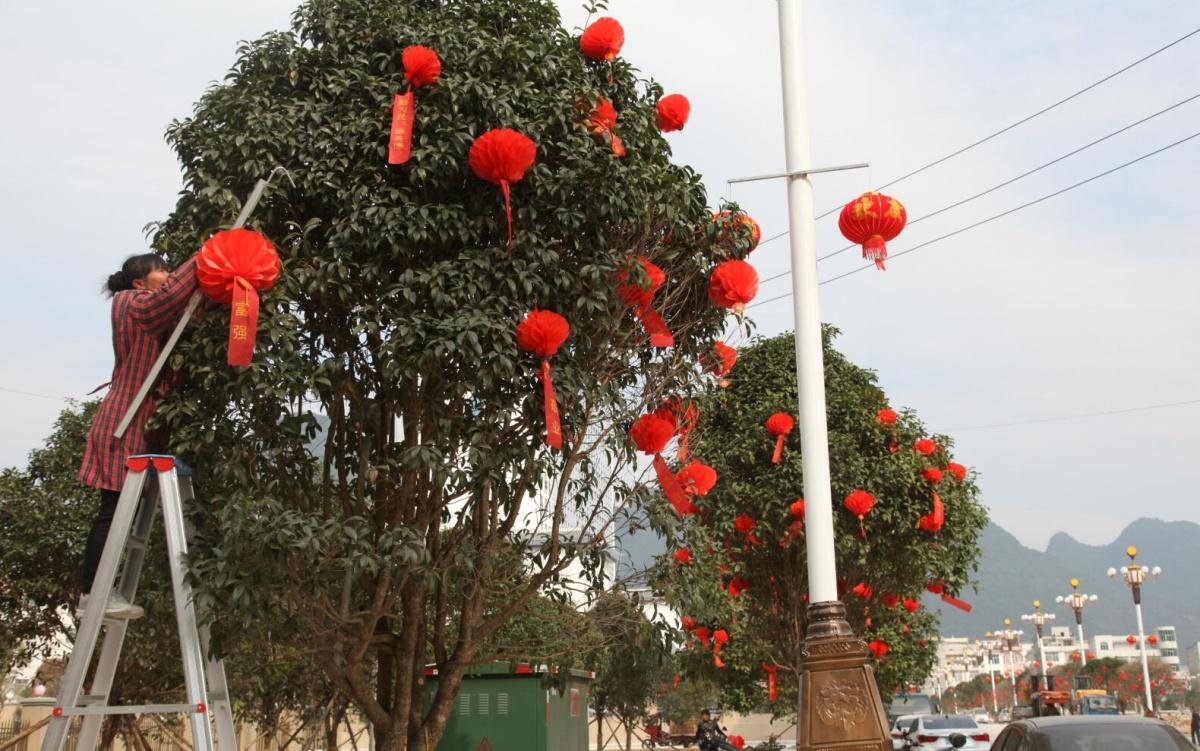 大化:2万余灯笼装扮城区