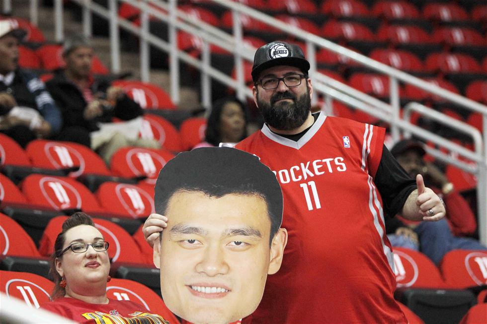 NBA:姚明球衣在火箭队主场退役(高清)
