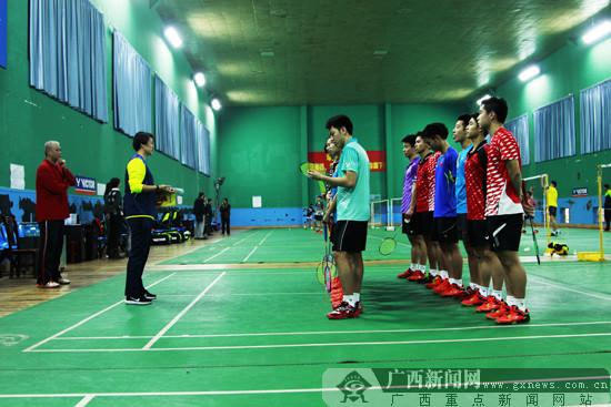 广西羽毛球队办第二期冬训公开课 积极备战全运会
