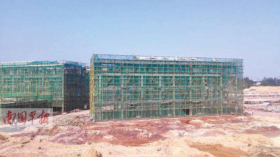 防城港一安置小区工程建到一半 施工队被清退(图)
