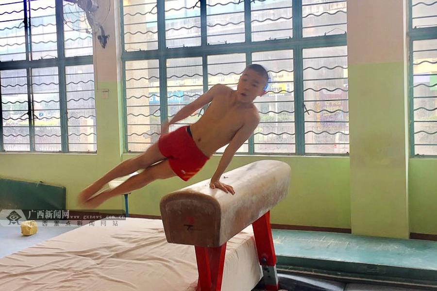 广西体操队男子三组开展训练公开课 队员均有进步