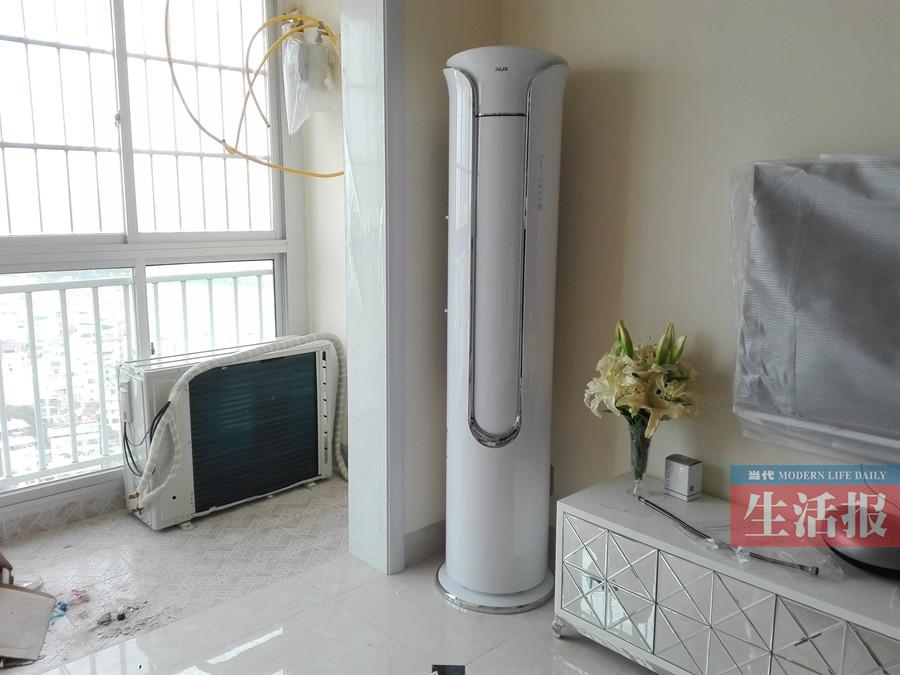 电视墙被装反空调外机在室内 乌龙施工让业主头疼
