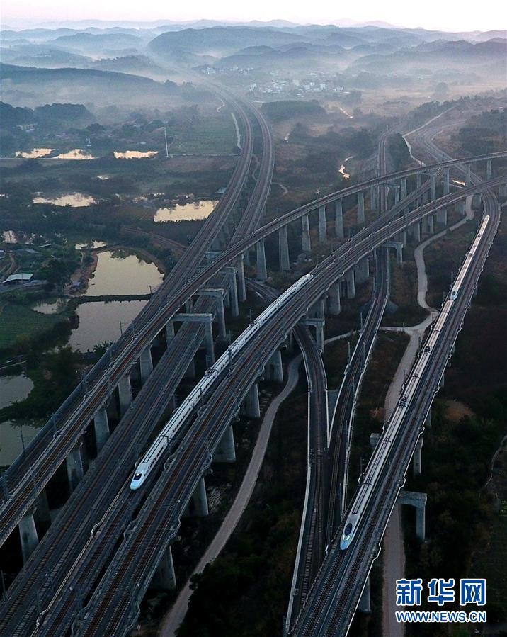 """(经济)(1)广西:力争到2020年实现""""市市通高铁"""""""