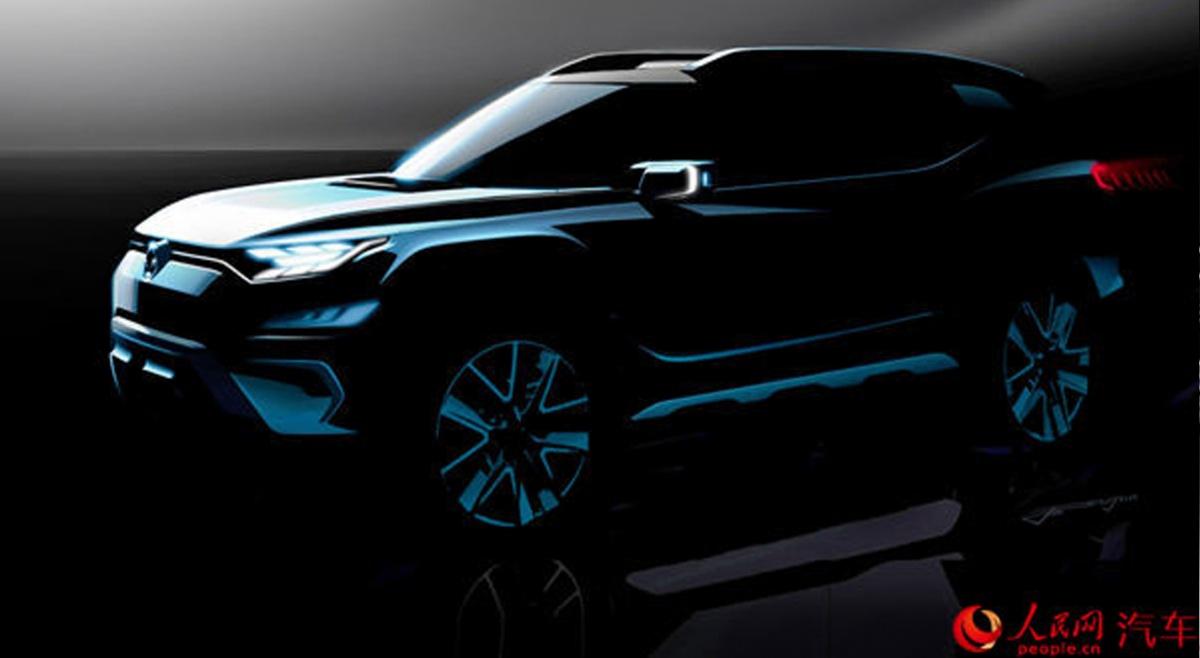双龙新款SUV预告图发布 日内瓦车展亮相