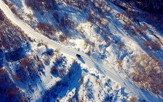 大青山雪景美如画