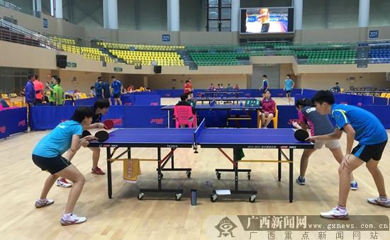 备战天津全运会 广西乒乓球队结束贵港集训