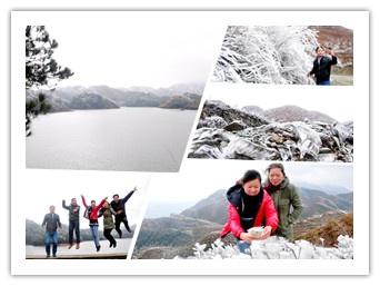 广西三江:开春冰棱世界美如画