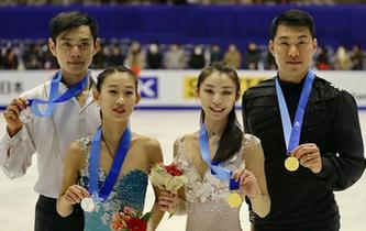 中国队包揽花滑双人滑金银牌