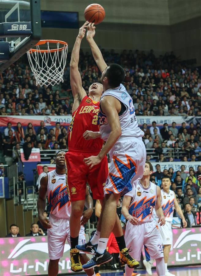 (体育)(9)篮球――CBA四分之一决赛第五场:上海哔哩哔哩无缘半决赛