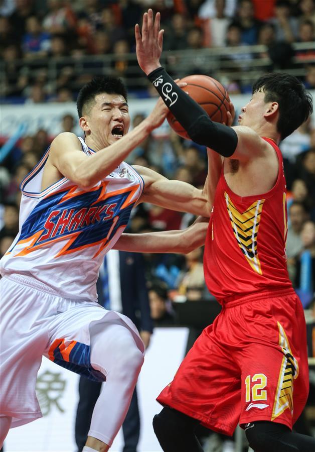 (体育)(5)篮球――CBA四分之一决赛第五场:上海哔哩哔哩无缘半决赛