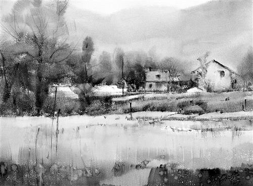 刘喜德水彩画《家园》
