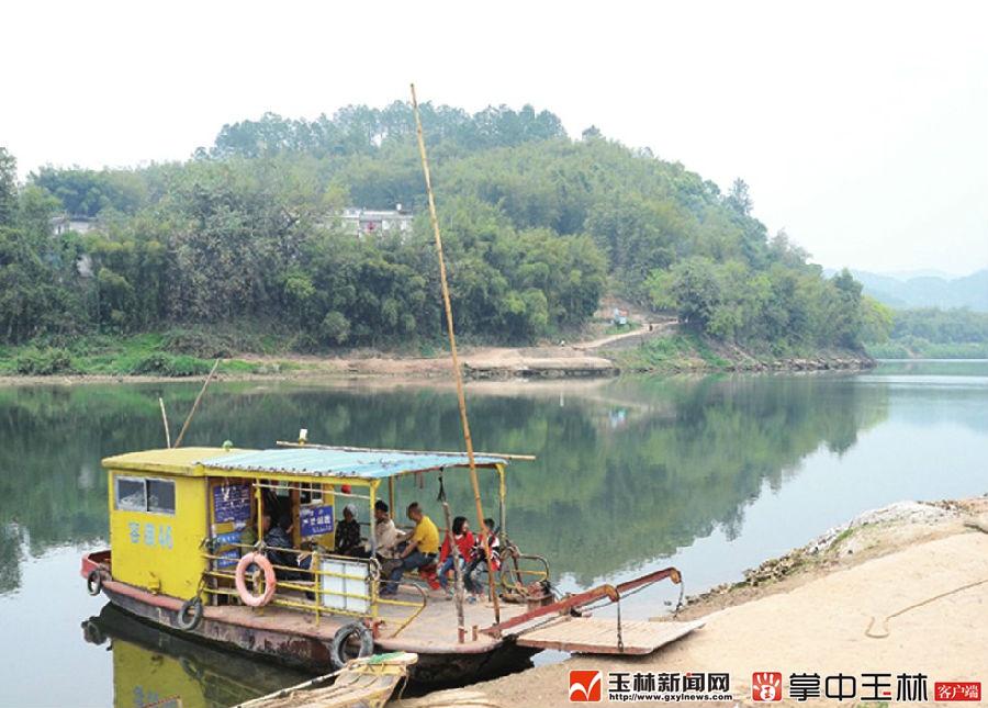 广西容县绣江河风景