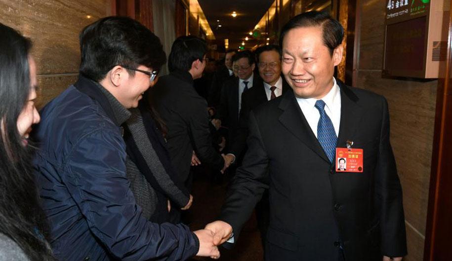 彭清华陈武看望慰问全国两会齐乐娱乐工作者