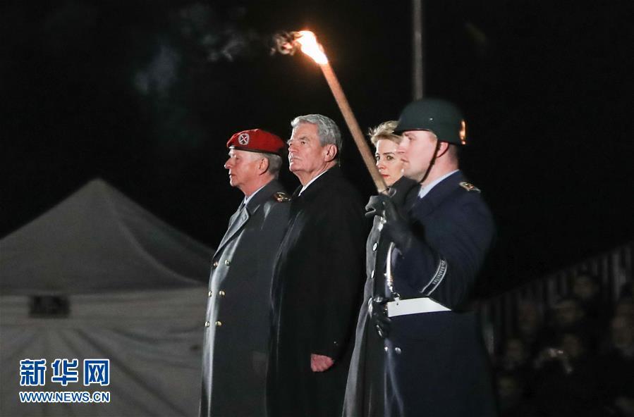 (国际)(1)德国总统高克卸任告别仪式在柏林举行