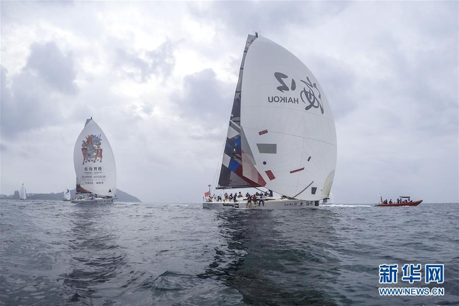 (体育)(1)帆船――2017第八届环海南岛国际大帆船赛三亚-海口拉力赛开赛