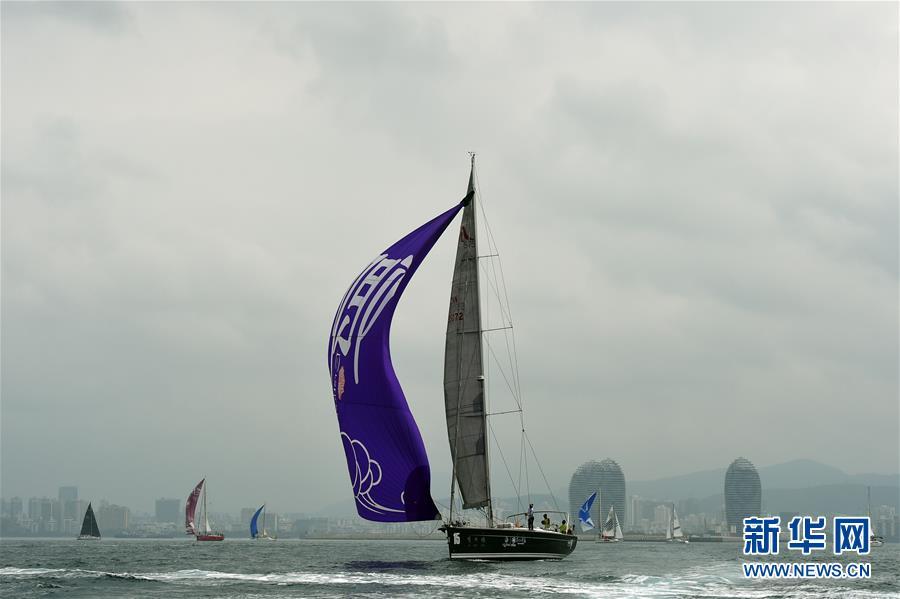 (体育)(8)帆船――2017第八届环海南岛国际大帆船赛三亚-海口拉力赛开赛