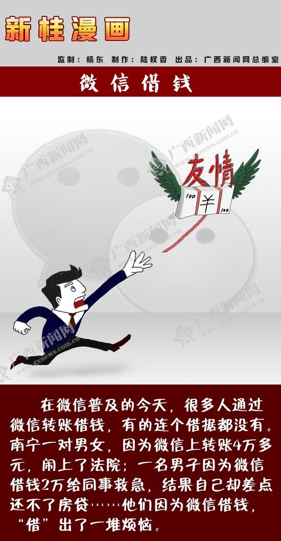 [新桂漫画]微信借钱
