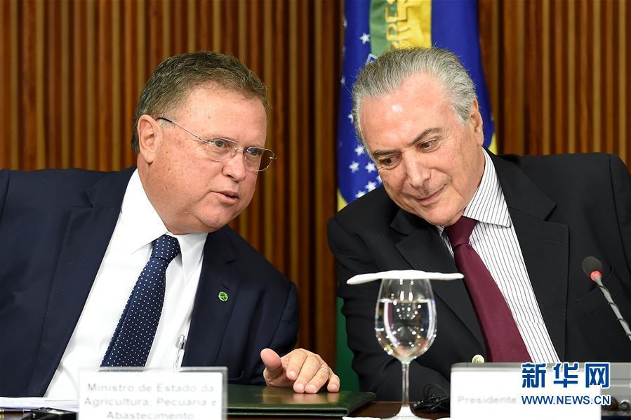 (外代一线)(1)巴西总统与进口巴西肉食的国家大使举行会议